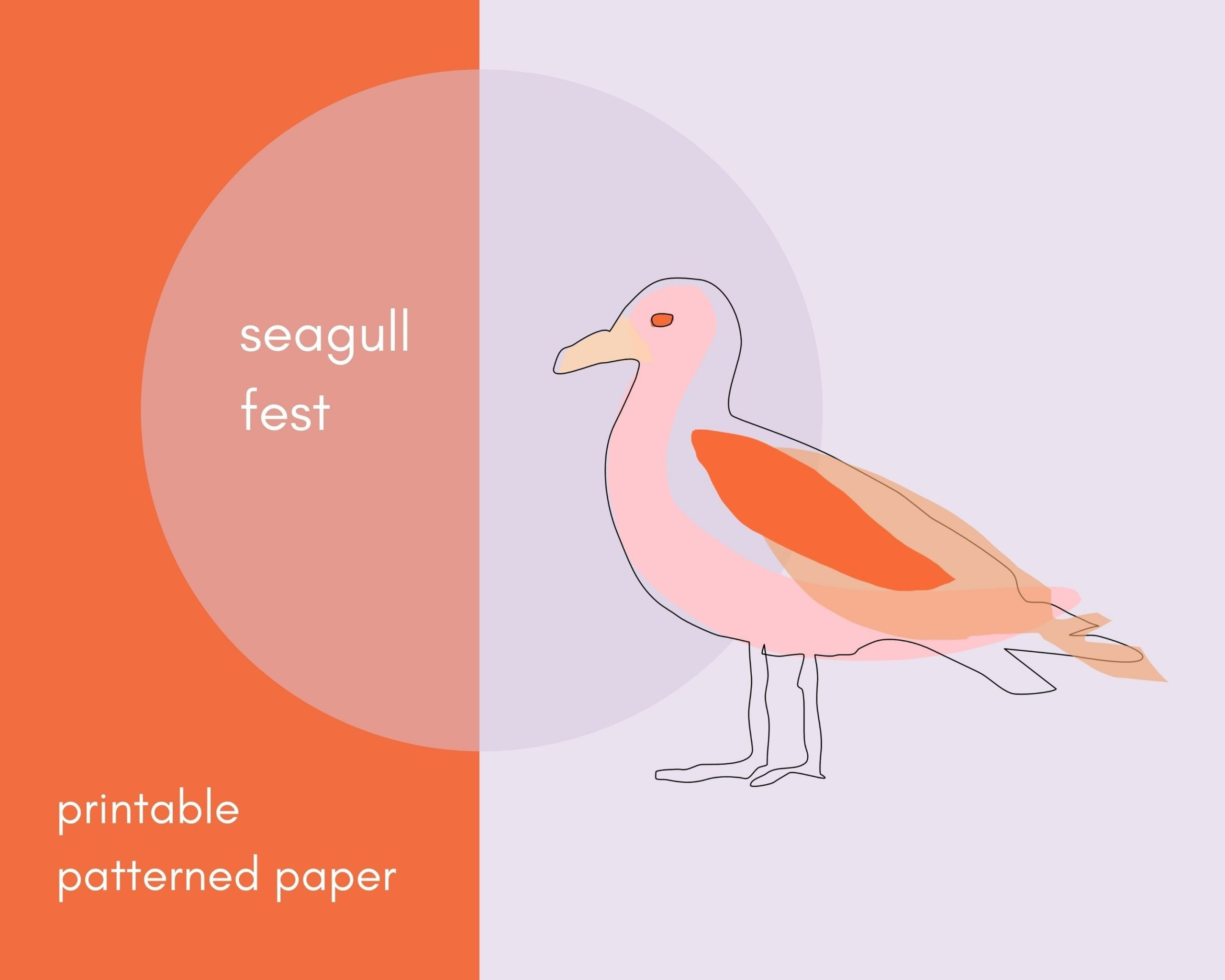 Seagull Fest Printable Paper