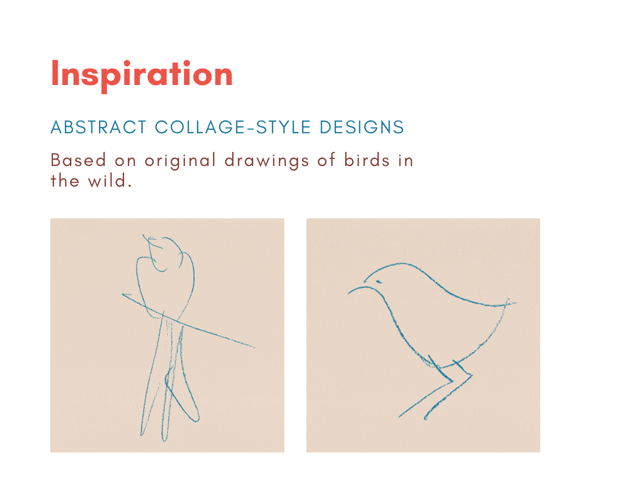 Original drawings on which The Plumage Papers digital paper collection is based.